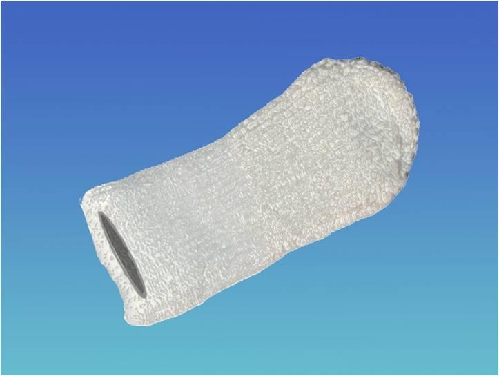 Chitotex Helmuth Focken Biotechnik e.K- antibakteriell- wirkende-Mikrofaserfingerzahnbürste mit Chitosan im Garn